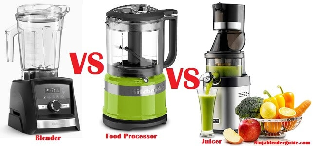 blender vs food processor vs juicer